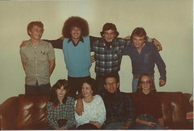 My Irish-Cherokee clan. That would be my father sporting the afro and sweater vest.